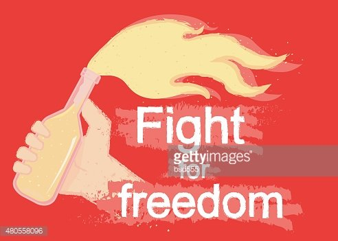 Fight for freedom logo on black