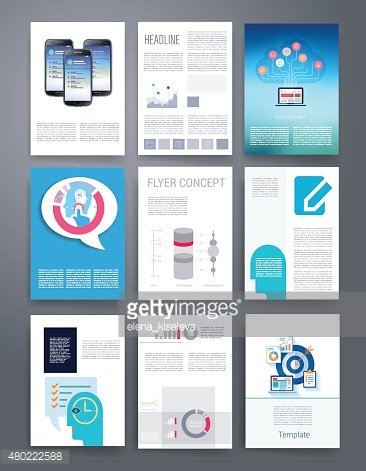 Computer Technology Templates. Vector flyer, brochure, cover for print, web