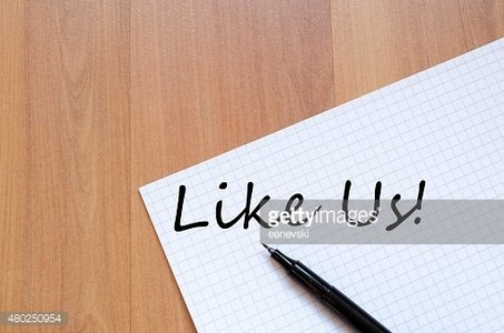 Like us concept Notepad