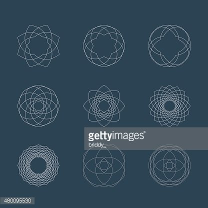 abstract guilloche elements