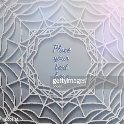 abstract spiderweb banner