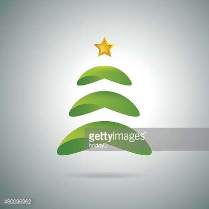 Minimalistic Christmas tree