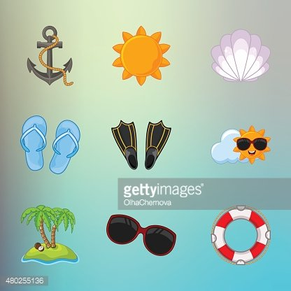build a summer theme with background sticker