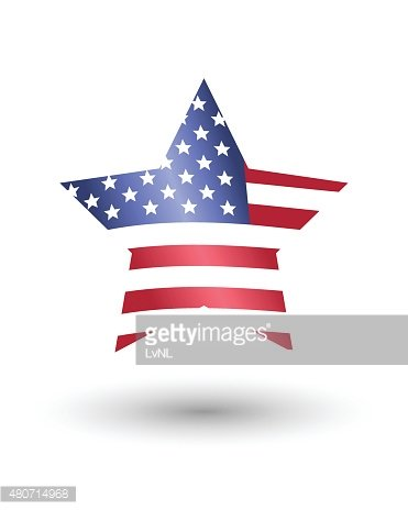 Star in American flag style