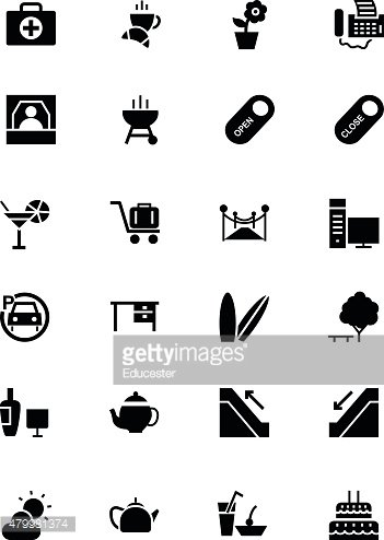 Hotel and Restaurant Vector Icons 4