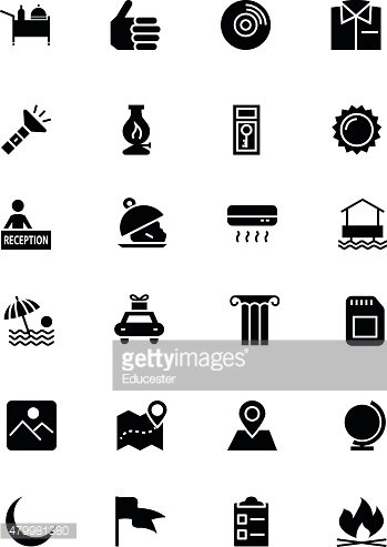 Hotel and Restaurant Vector Icons 10