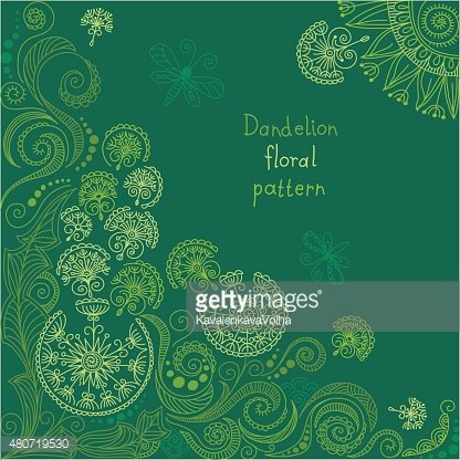 vector green floral pattern