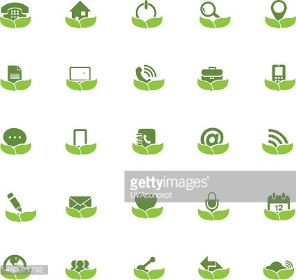 Eco Universal Outline Icons For Web and Mobile