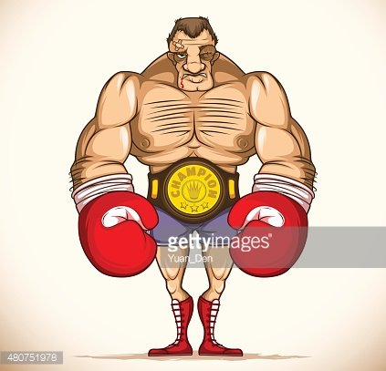 Professional boxer after a fight