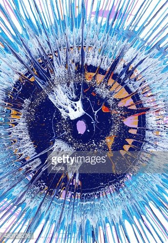 Abstract expressionism painting - Dramatic Blue