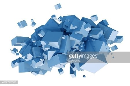 Cubes Composition Isolated