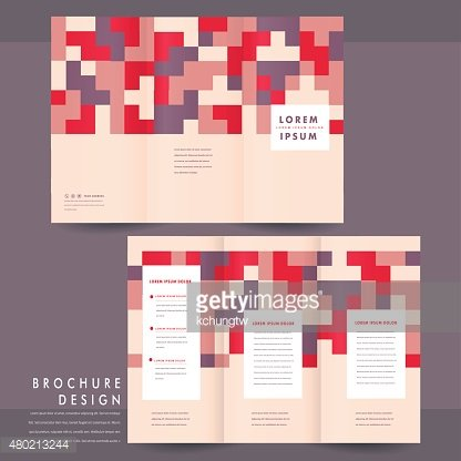 lovely tri-fold brochure template design