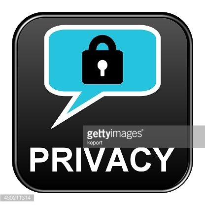 Black Button showing Privacy