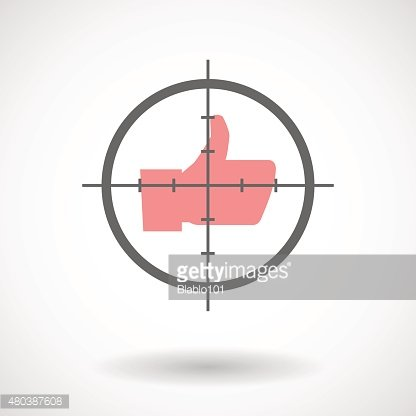 Crosshair icon with a thumb hand