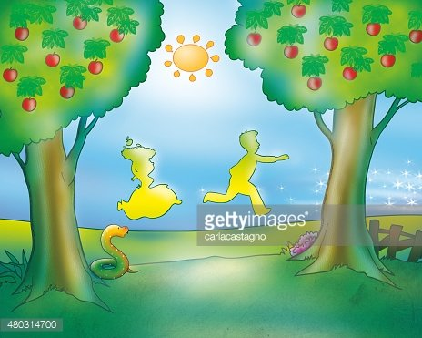 Man and woman running (Gingerbread boy fairy tale)