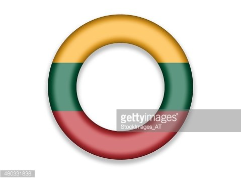 Circle Flag of Lithuania