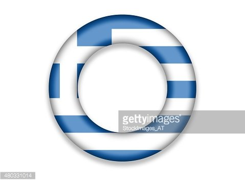 Circle Flag of Greece
