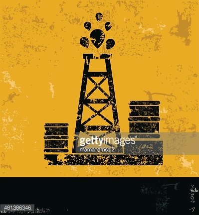 Oil industry design on yellow background,grunge vector