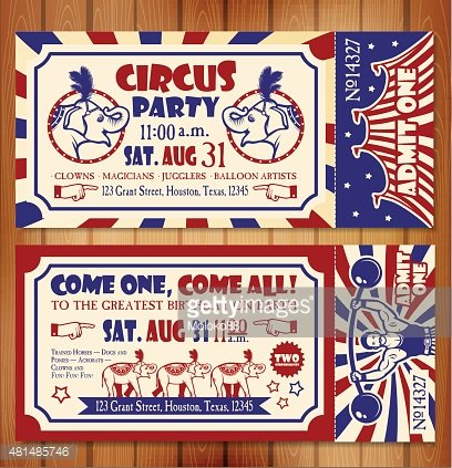 Birthday Card With Circus Ticket Premium Clipart Clipartlogo