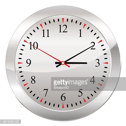 Analog Clock Isolated ON A White Background premium clipart