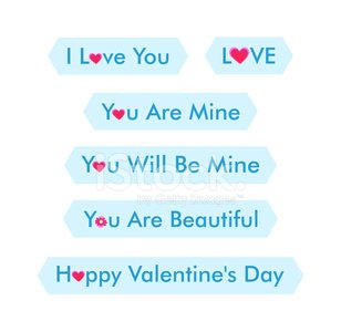 Stickers for St. Valentines Day