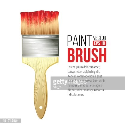 Paint Brushes Isolated ON Vector Illustration premium