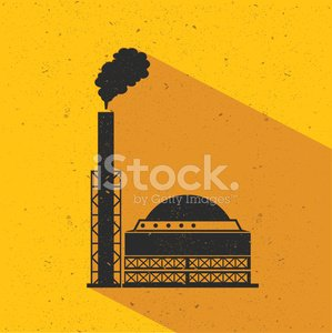 Factory industry design on yellow background,vector