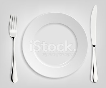 Empty Plate With Knife And Fork Premium Clipart Clipartlogo Com