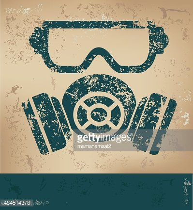 Mask industry design on old background,vector