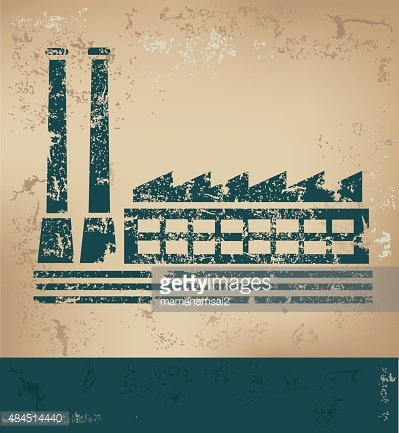 Industry design on old background,vector