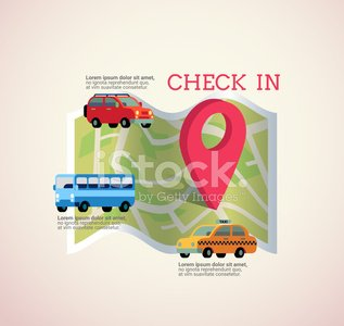 map with pin check in icon vector illustration