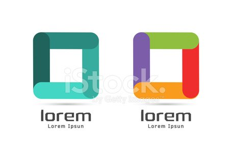 Vector square abstract logo template. Shape and symbol, icon, creative