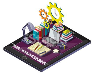 illustration of info graphic time management concept in isometric graphic