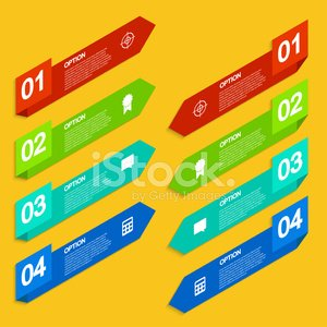 Vector modern arrow infographic background