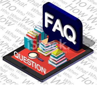 illustration of info graphic question mark concept