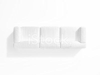 Awe Inspiring White Sofa On White Background Top View Clipart Image Machost Co Dining Chair Design Ideas Machostcouk