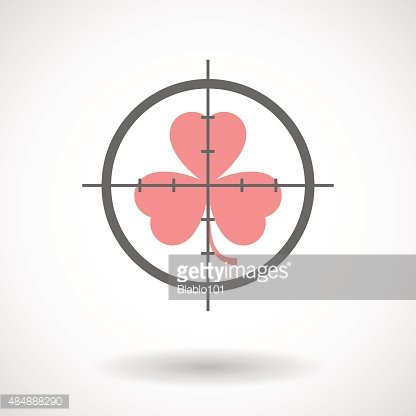 Crosshair icon with a clover