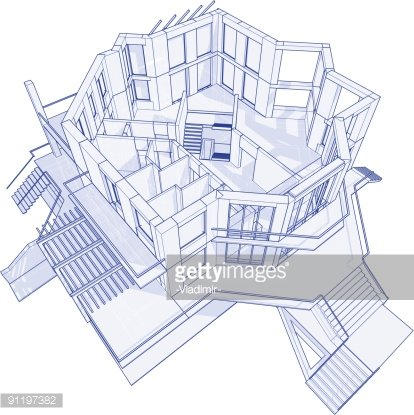 House blueprint 3d technical concept draw premium clipart house blueprint 3d technical concept draw malvernweather Gallery