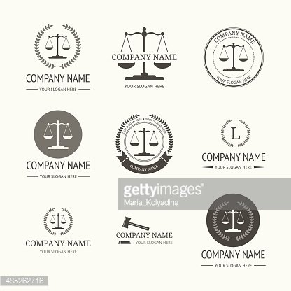 Law firm logo template. set of vintage labels