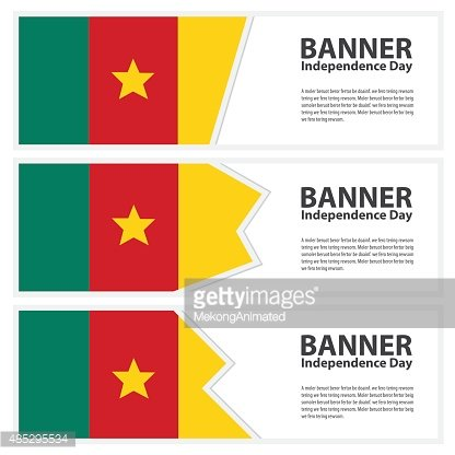 cameroon Flag banners collection independence day