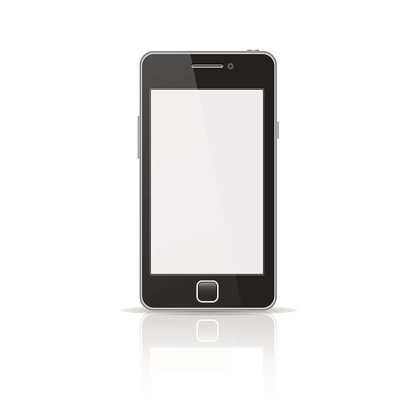 Black smart phone vector