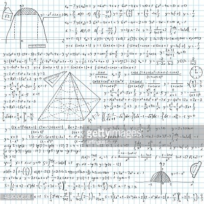 Notebook with formulas
