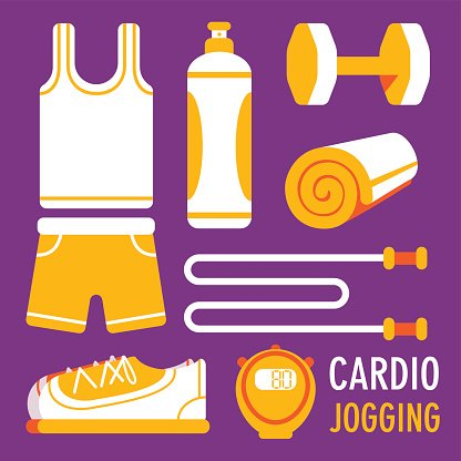 jogging related object flat icon