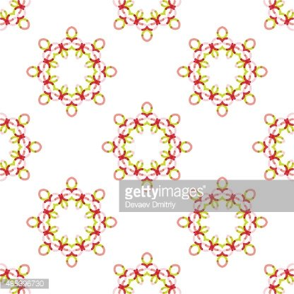 Seamless vector geometric abstract pattern. Creative round shapes made of