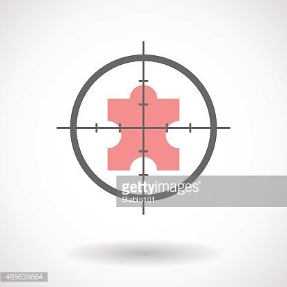 Crosshair icon with a puzzle piece