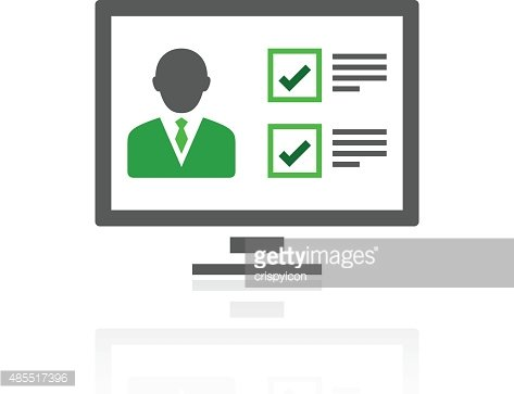 Computer icon on a white background.
