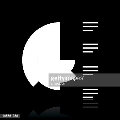 Coxcomb Chart icon on a black background.