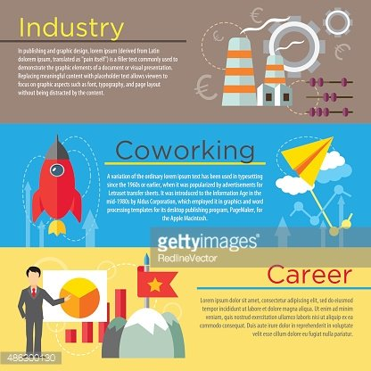Industry, co-working and career concepts