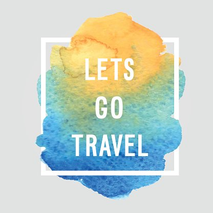 Motivated poster - 'Lets go travel'