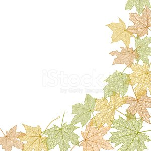 Autumn Leaves Template Clipart Image 1 566 198 Clip Arts